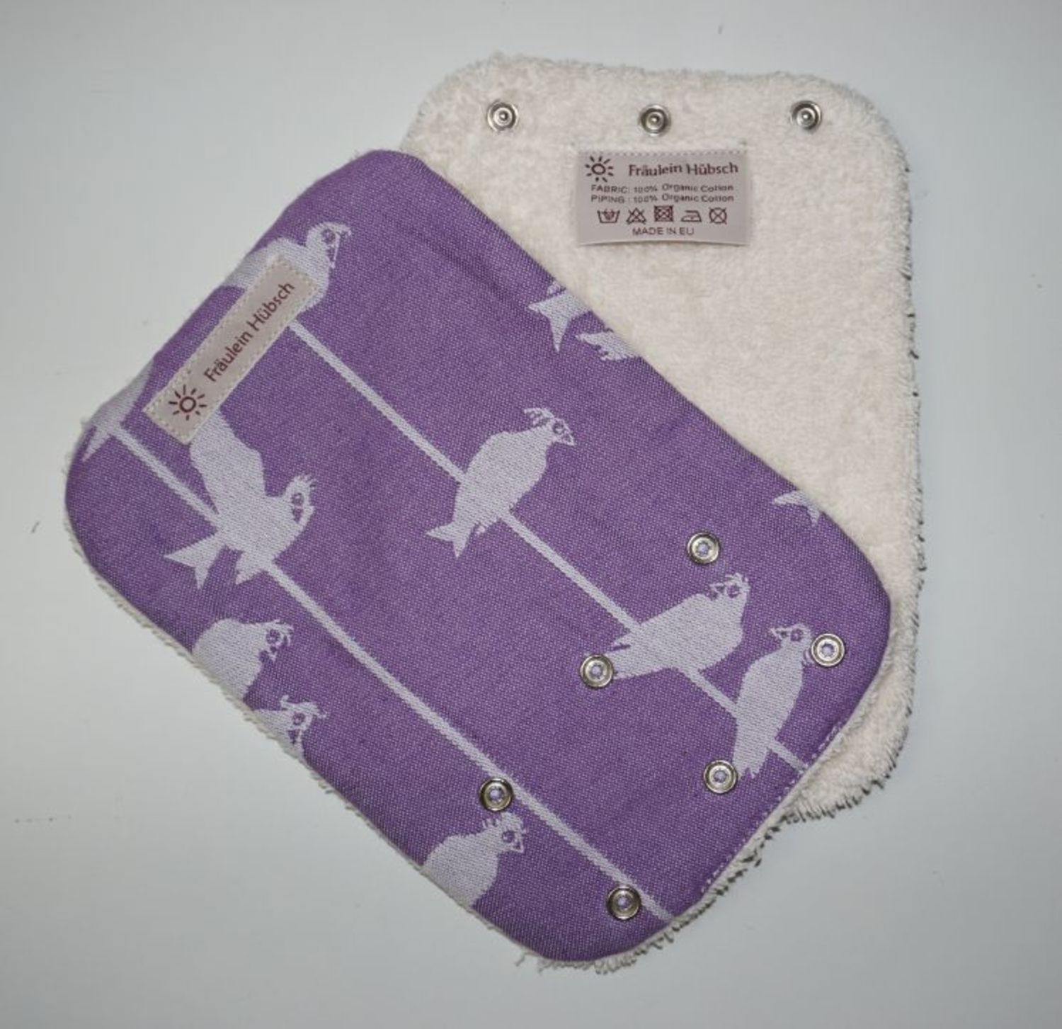 "Teething Pads ""Birds on a Wire Lila\"""