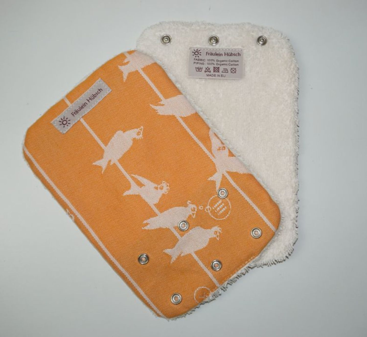 "Teething Pads ""Birds on a Wire Melone\"""