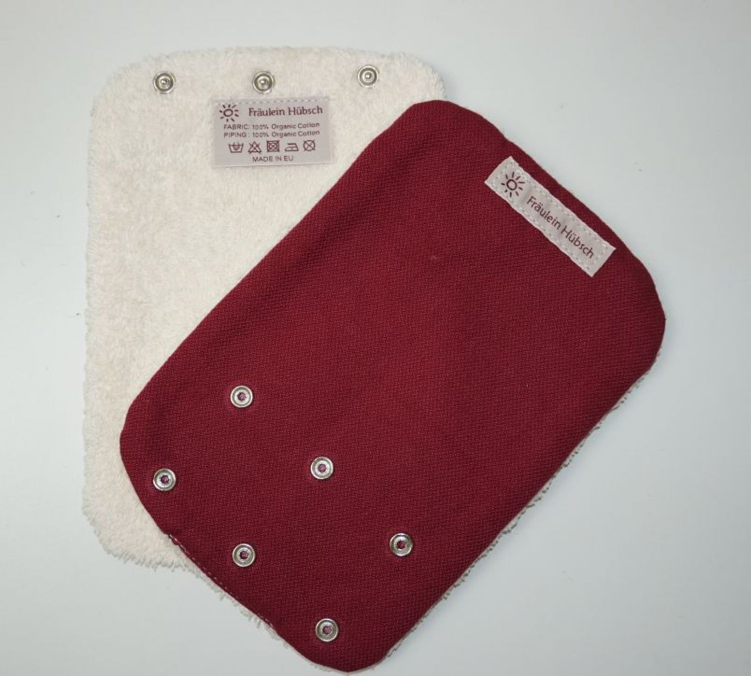 "Teething Pads ""Bordeaux\"""