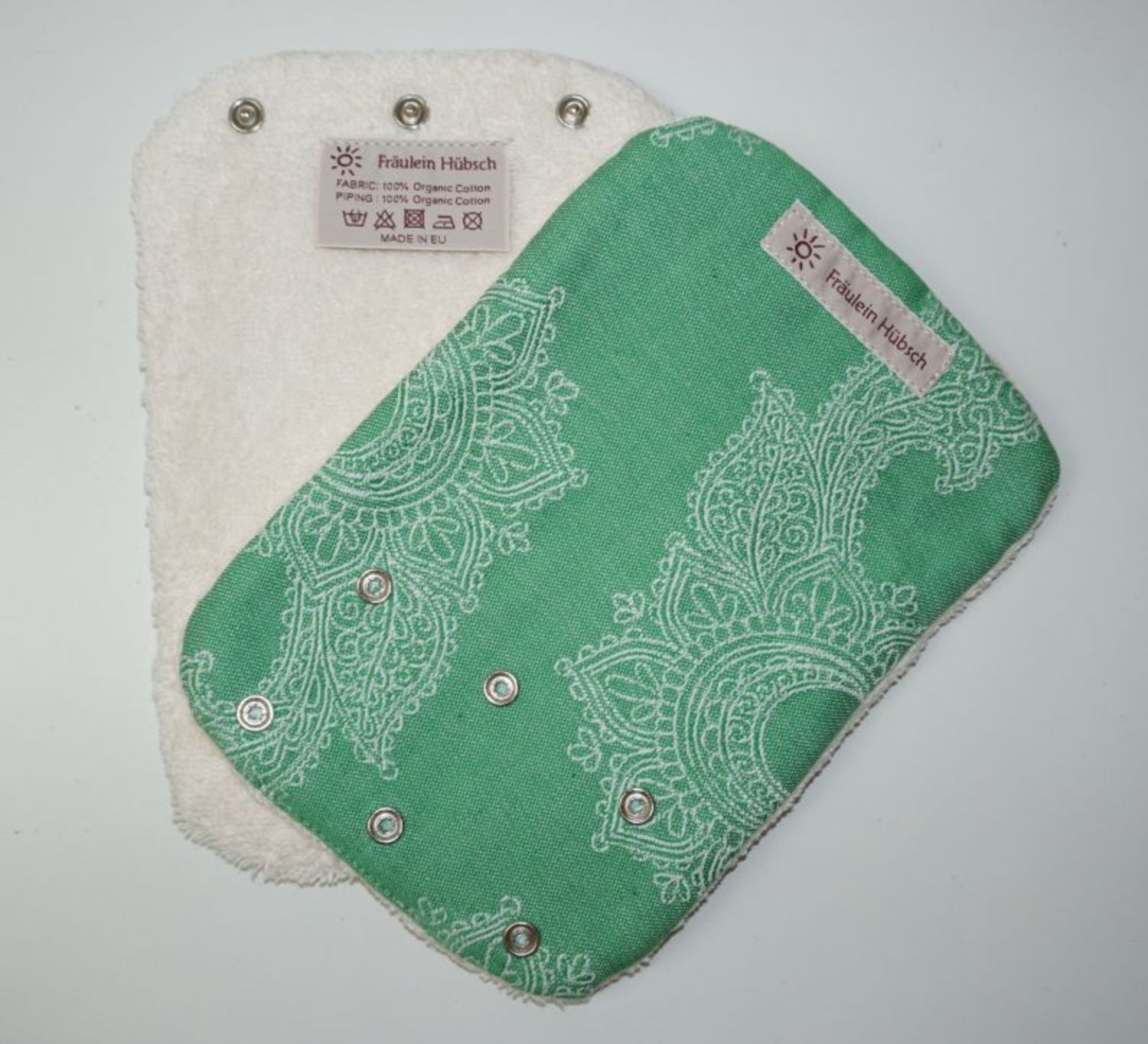 "Teething Pads ""Little Floral Grün\"""
