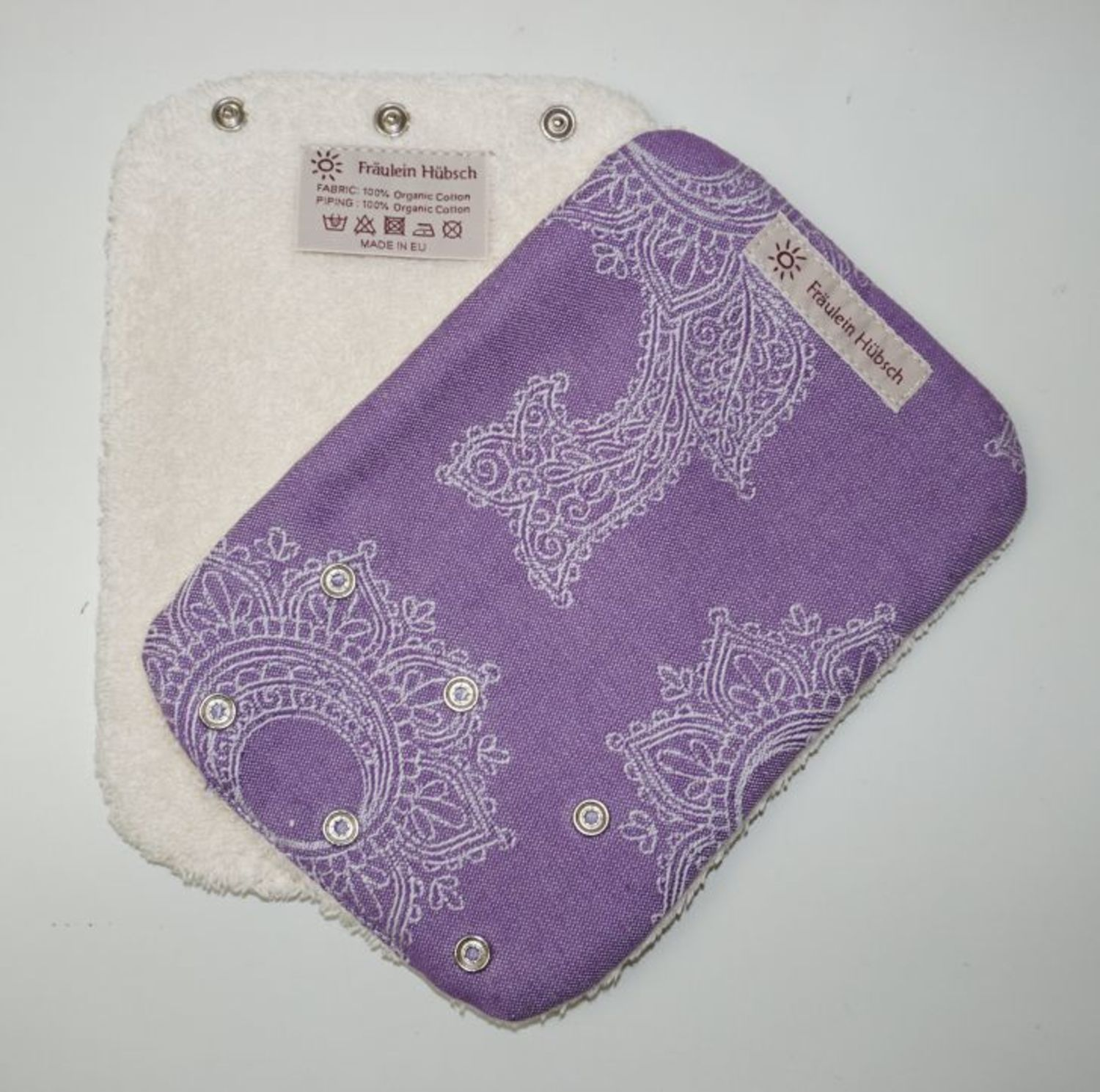 "Teething Pads ""Little Floral Lila\"""
