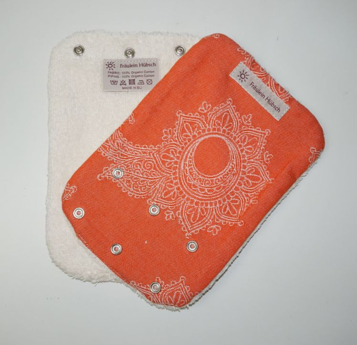 "Teething Pads ""Little Floral Orange\"""