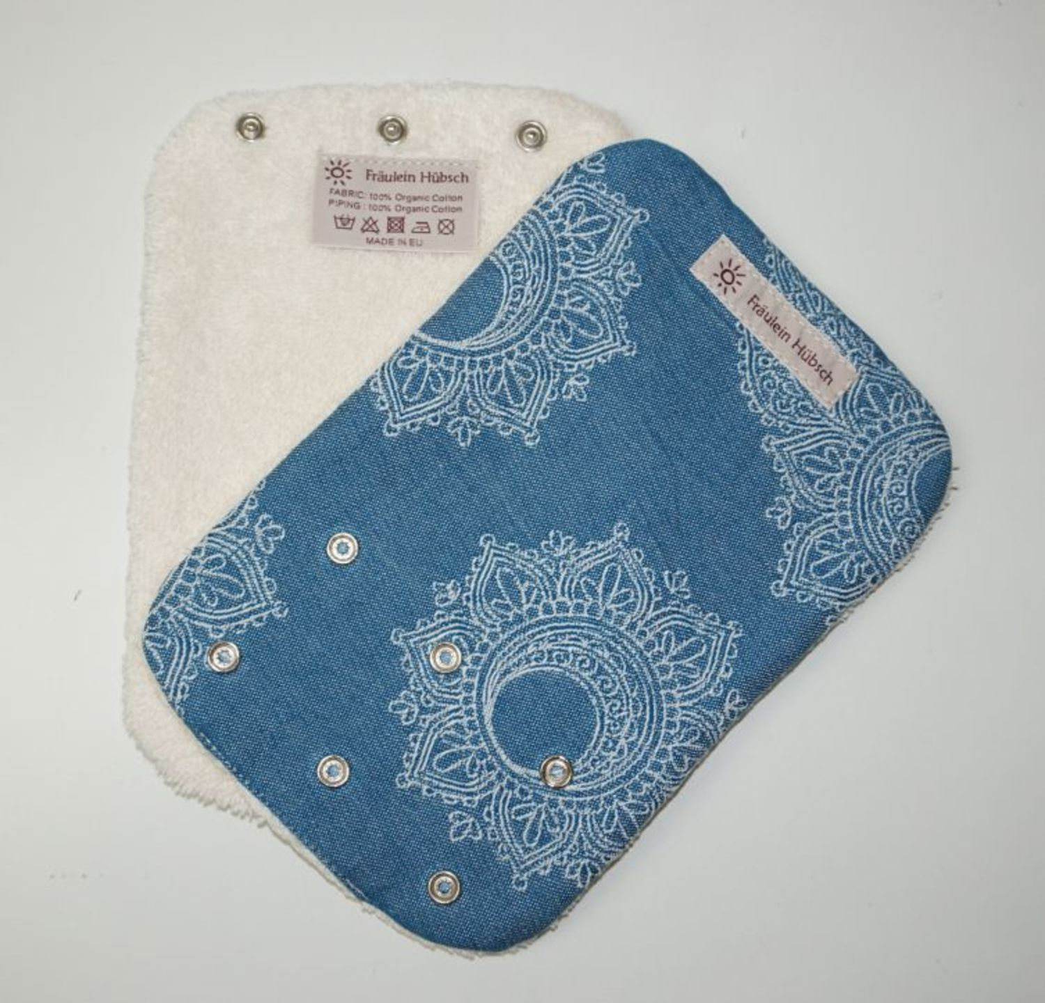 "Teething Pads ""Little Floral Petrol\"""