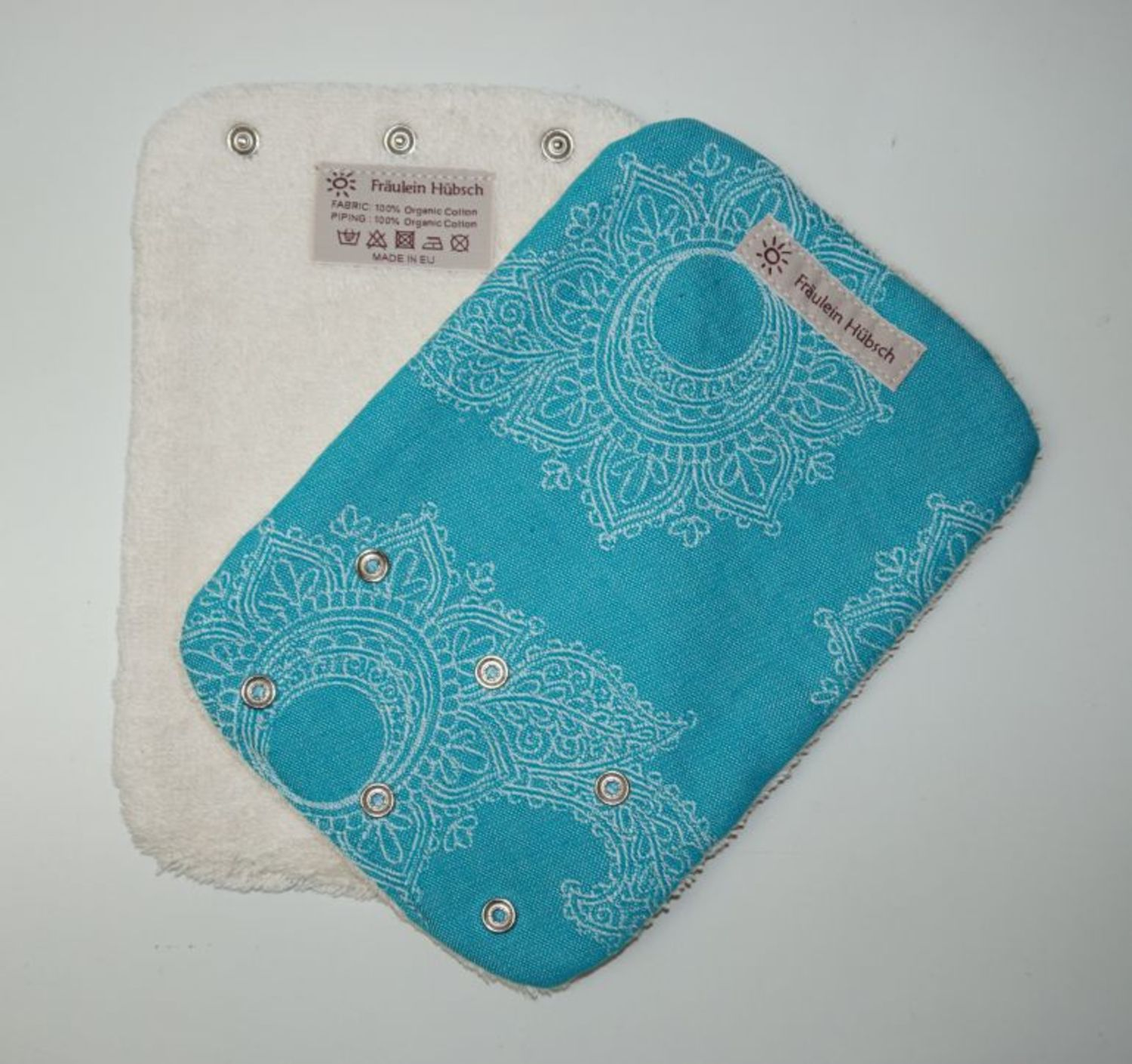 "Teething Pads ""Little Floral Türkis\"""