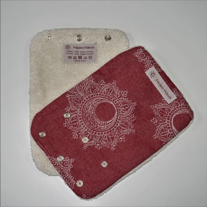 "Teething Pads ""Little Floral Bordeaux\"""