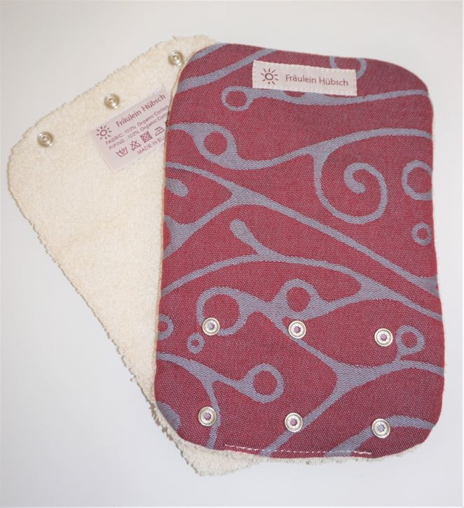"Teething Pads ""Seaweed Bordeaux\"""