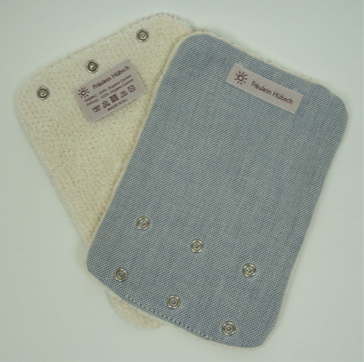 "Teething Pads ""Stahlblau Meliert\"" (Faded Denim)"