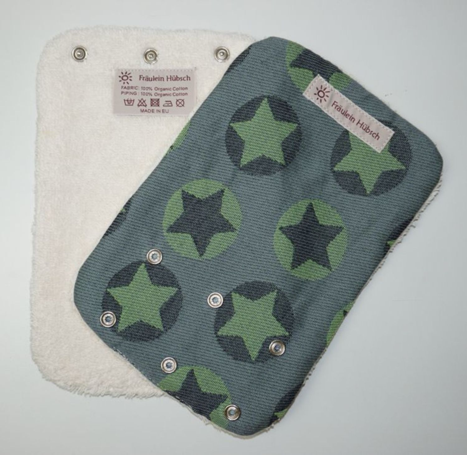 "Teething Pads ""Stars All Over Grün\"""