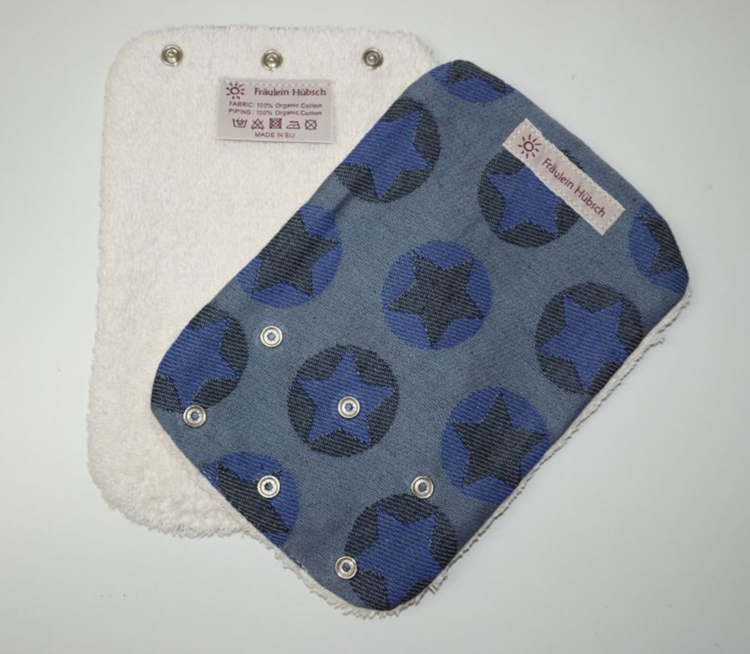 "Teething Pads ""Stars All Over Marine\"""
