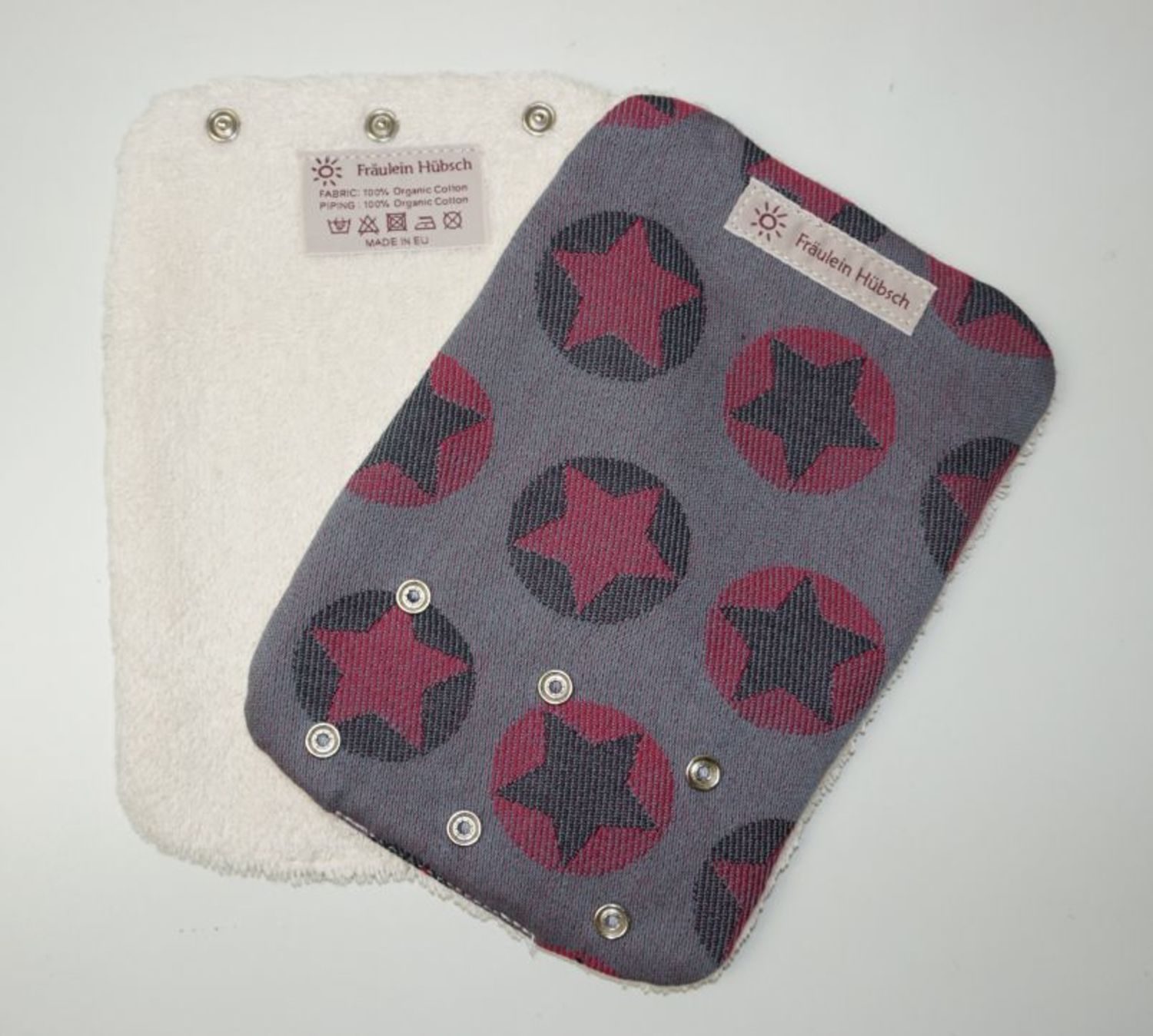 "Teething Pads ""Stars All Over Pink\"""