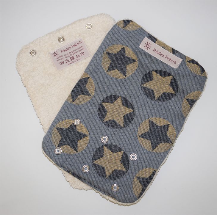 "Teething Pads ""Stars All Over Gelb\"""