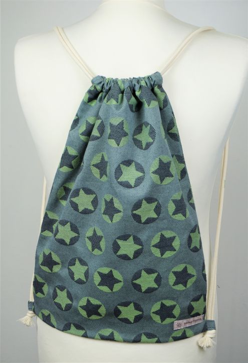 "Cotton Backpack ""Stars All Over Grün\"""