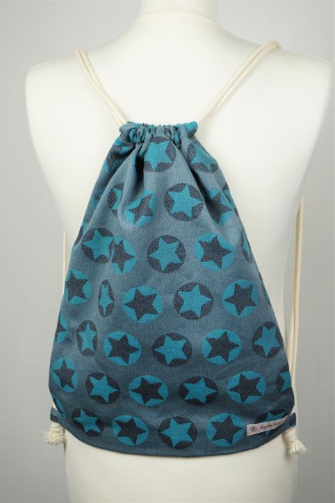 "Cotton Backpack ""Stars All Over Türkis\"""