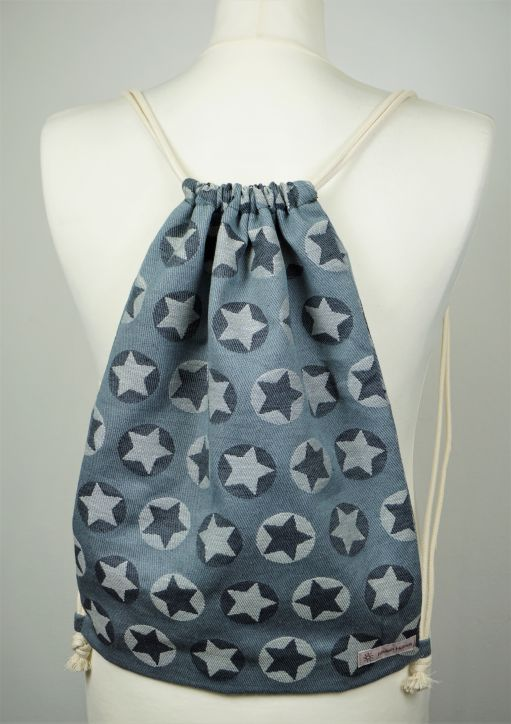 "Cotton Backpack ""Stars All Over Weiß\"""