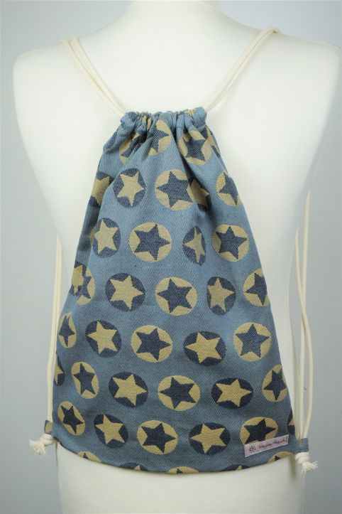 "Cotton Backpack ""Stars All Over Gelb\"""