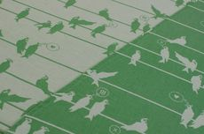 Frl. Hübsch Ringsling Birds On A Wire Grün