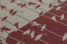 Frl. Hübsch Ringsling Birds On A Wire Bordeaux