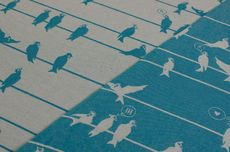 Frl. Hübsch Ringsling Birds On A Wire Türkis