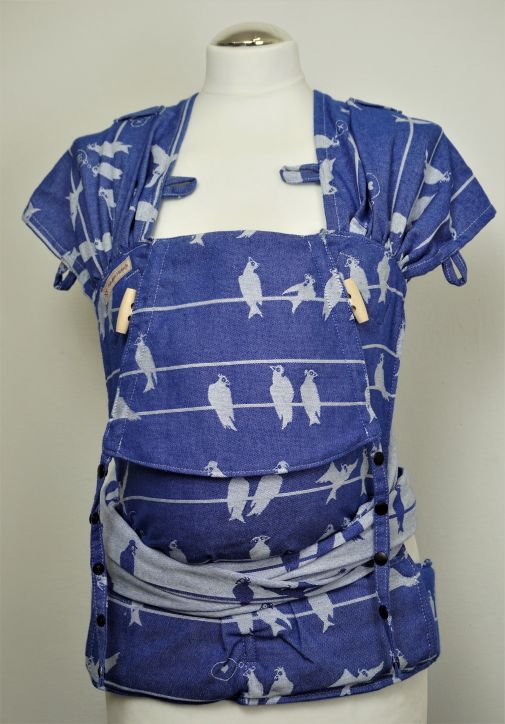 "Frl. Hübsch Wrapcon Babysize ""Birds On A Wire Marine\"""